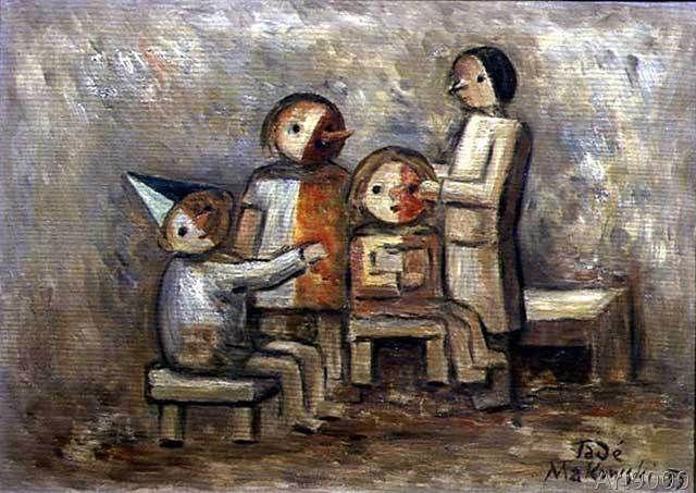 Tadeusz Makowski - Little Family, 1929