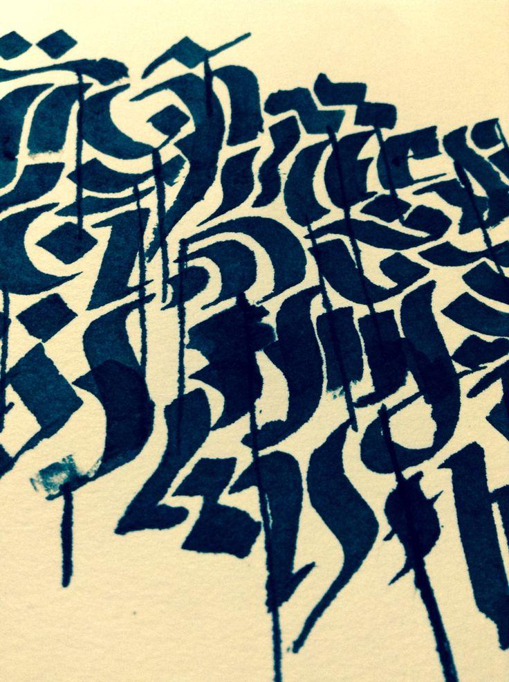Calligraphy Art drawn by Allysha Taylor