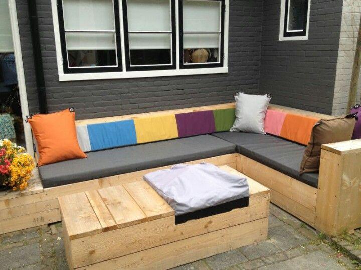 kleurrijke privé tuin