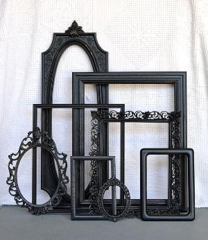 Black Ornate Vintage Frames