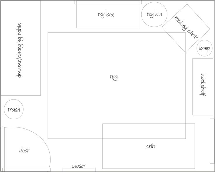 10 x 10 nursery layout - Google Search