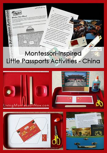 Montessori-inspired activities for a study of China or for Chinese New Year (using the Little Passports China package and free printables)