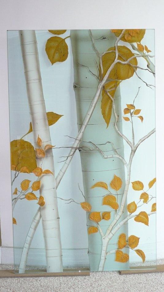 Reverse Glass Aspen Painting