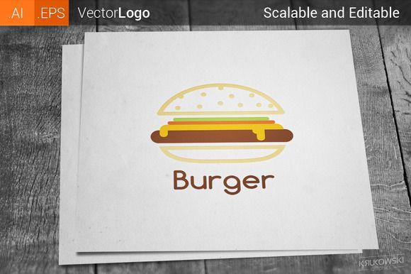 Burger Logo by Krukowski on Creative Market