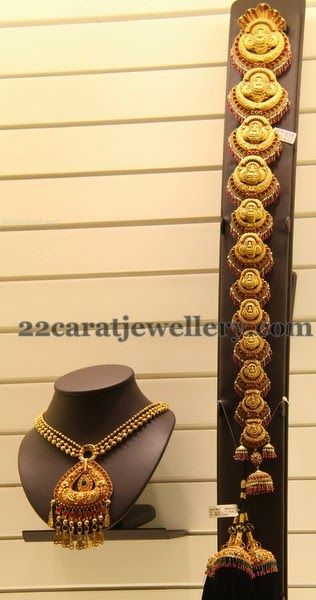Jewellery Designs: Gold Jada and Suitable Choker