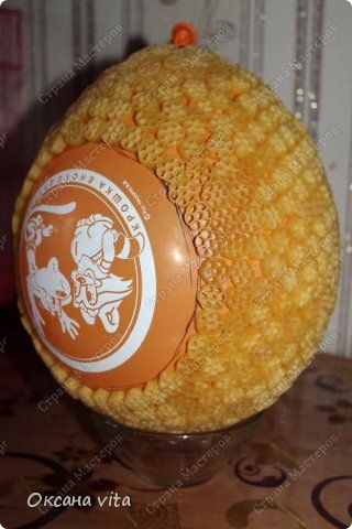 Мастер-класс Моделирование конструирование мк пасхальное яйцо из макарон Продукты пищевые фото 4