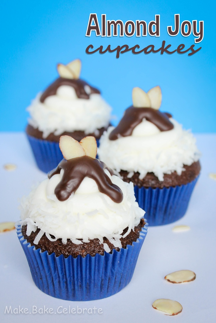 Make Bake Celebrate - Almond Joy cupcakes