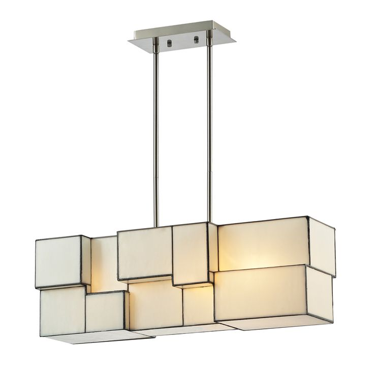 Artfully Illuminate Your Stairwaydining Room Or Foyer With This Lovely Chandelier Showcasing A Cubist Design And Brushed Nickel Finished Hardware