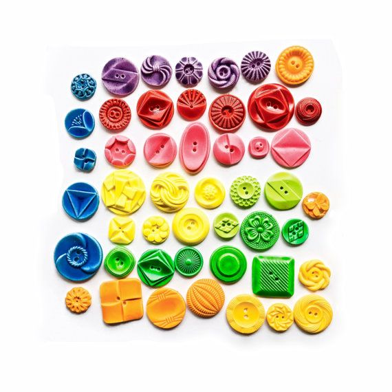 Edible Vintage Candy Buttons  50 Fruit by andiespecialtysweets