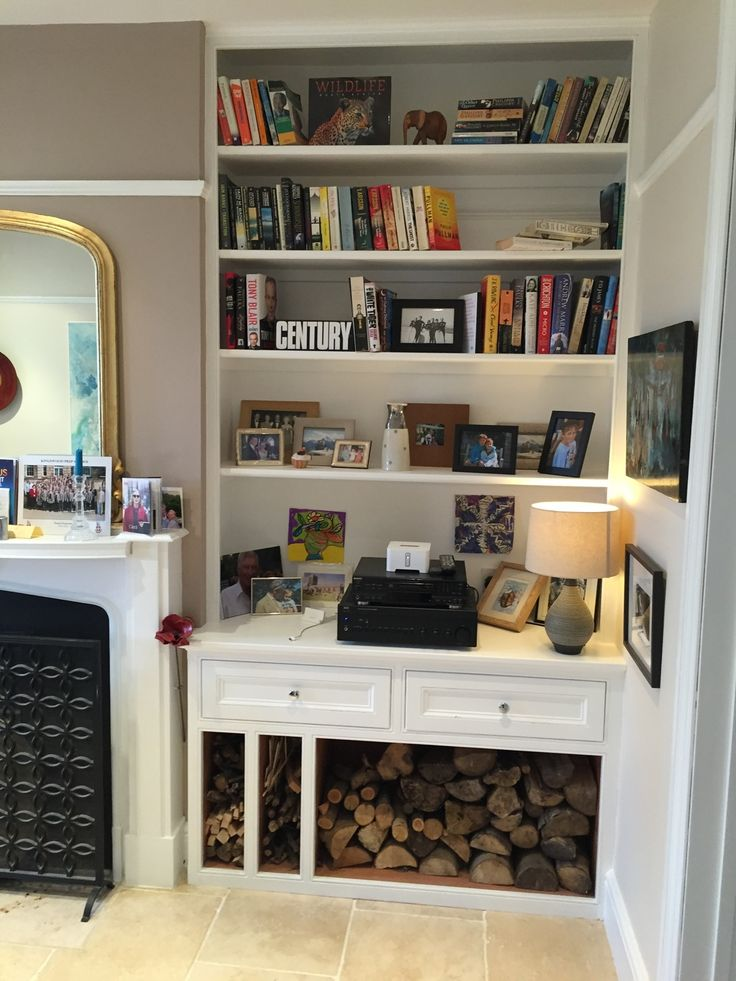 Living Room Alcove Decorating Ideas: Handmade Shelving, Alcove Unit And Cabinets By Oliver