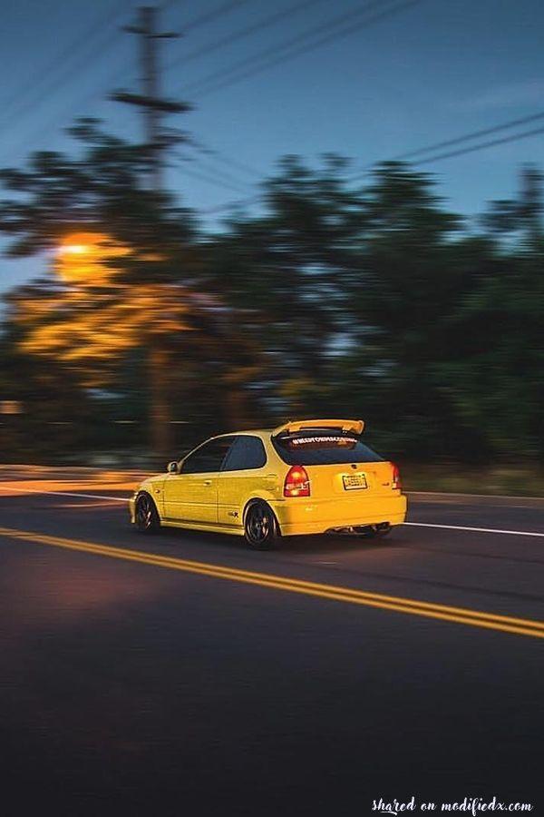 Custom Yellow Honda Civic Ek9 Type R Ek9 Type R Honda