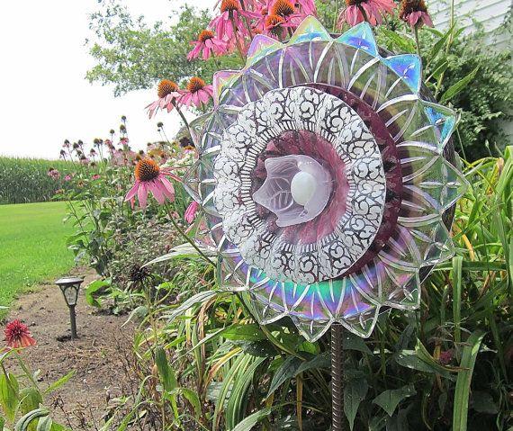Aussie Mum Gardening From Scrap: Purple Garden Art Sculpture Outdoor Yard Decoration