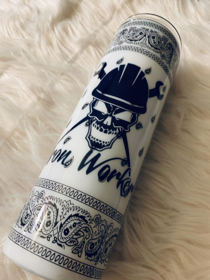 Iron worker bandana tumbler in 2020 with images