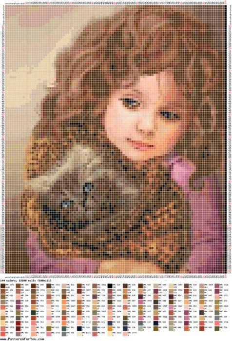 Girl & Cat Chart