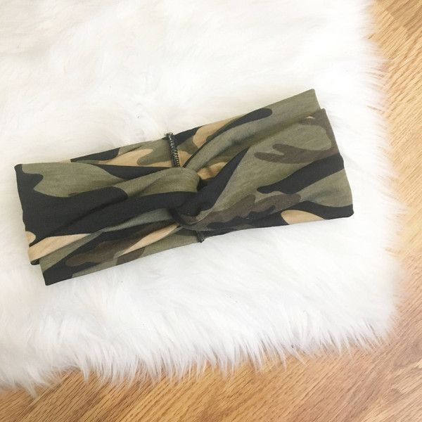 M a M a Turban Headband Camoflauge Camo ($14) ❤ liked on Polyvore featuring accessories, hair accessories, grey, headbands & turbans, headband hair accessories, turban headbands, head wrap turban, head wrap headbands and camo headband