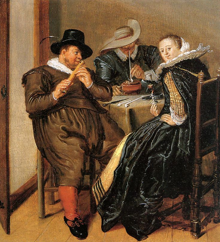 Dirck Hals (1591–1656) MERRY COMPANY WITH FLUTE PLAYER