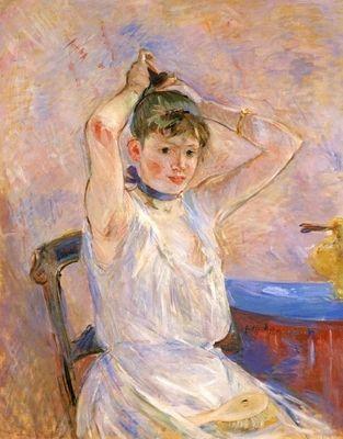 The Bath by Morisot. Order from DEKORAMI as a poster, canvas print, mural. Zamów jako obraz na płótnie, plakat lub fototapetę na DEKORAMI.pl