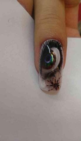 Eyes are the windows to your soul! Check this amazing print by Tink'd tears are built by gel for the 3D effect awesome!!