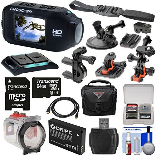 Kit includes: ? 1) #Drift Innovation HD Ghost-S Wi-Fi Waterproof Camcorder ? 2) Drift Innovation HD Ghost-S Waterproof Housing ? 3) Drift Innovation Li-ion Batt...