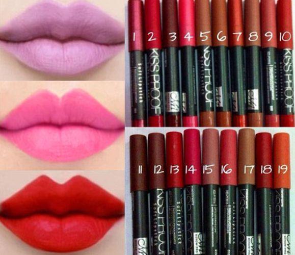 New 2015 19 Colors Sexy Beauty Waterproof Lip Pencil Lipstick Lip Gloss Makeup