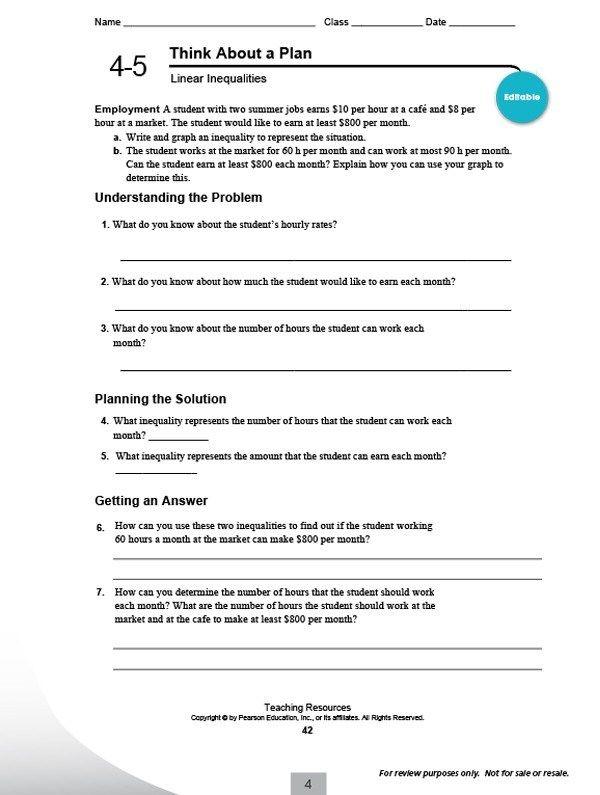51 Pearson Education Math Worksheets