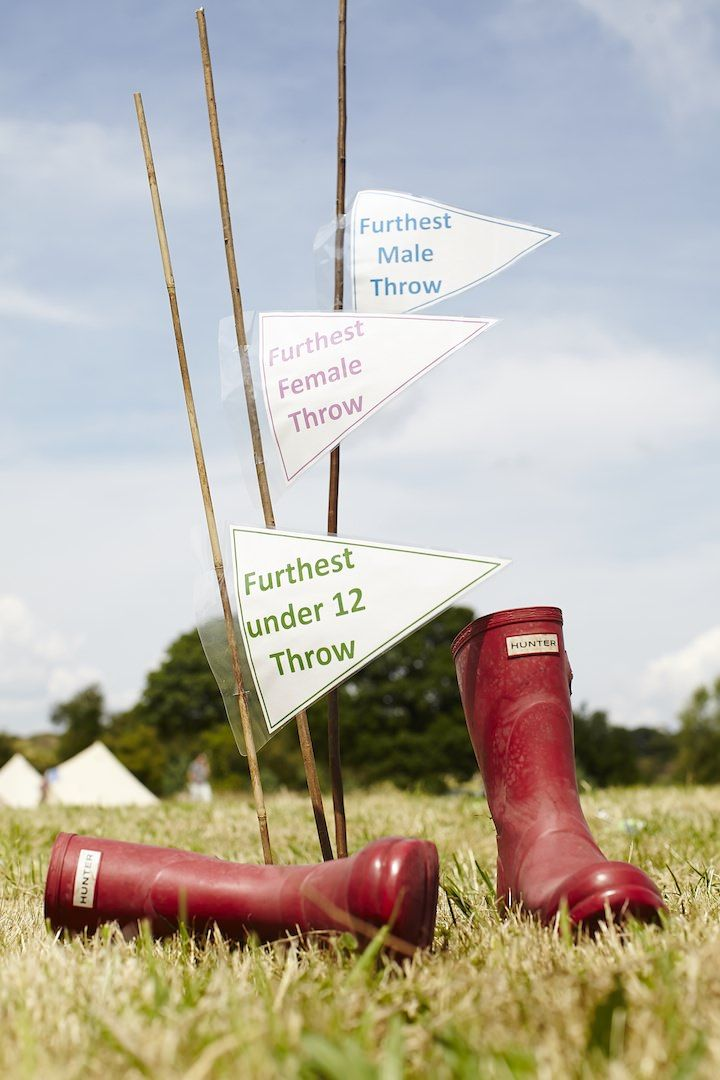 We love this game idea for a country fete wedding seen on Boho Weddings!