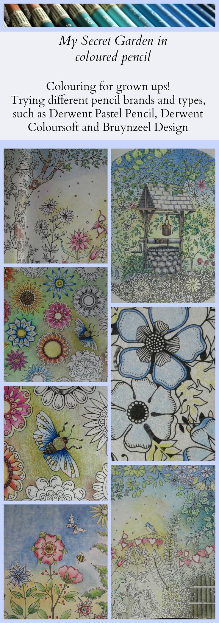 Passion For Pencils My Secret Garden Colouring Book Part 6 Testing Different Brands And Types Of