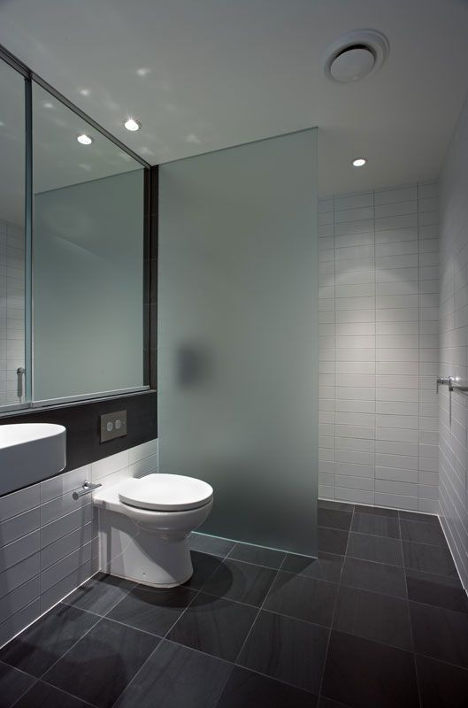 Empire frosted shower screen.  Good layout for relocated ensuite.