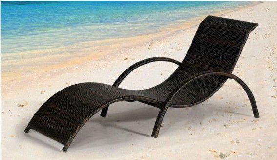 ML-118, China rattan s shape beach daybed, outdoor cheap garden sun loungers Manufacturer & Supplier