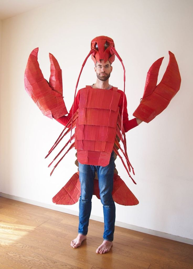 The Cardboard Collective: Cardboard Lobster Costume                                                                                                                                                                                 More