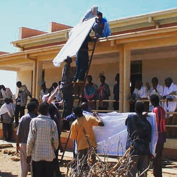 """A primary school in the village Adi Belsey Eritrea got their first solar system which helps to extend the hours available for educational activities in the evening hours.  The project was funded by the NGO """"Grundschule Adi Belsey in Eritrea e.V."""" and operated by our supplier - Phaesun Germany in cooperation with Phaesun Asmara.  Project value 18000 EUR  System components 16 x Solarmodule ETSolar 135 Wp; Solar Charge Controller Outback FLEXmax FM 60; Inverter/Charger Studer XTH 6000-48 5000…"""