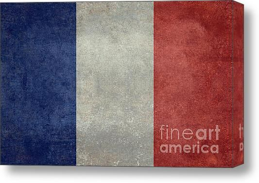 The National Flag Of France Stretched Canvas Print / Canvas Art By Bruce Stanfield