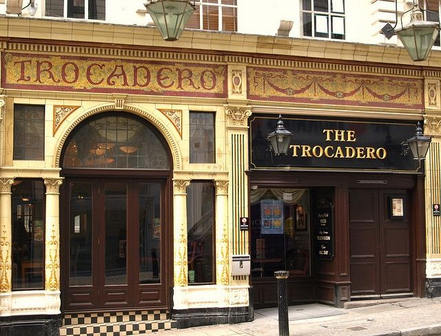 The Trocadero 17 Temple Street Birmingham an iconic Birmingham pub with a history as colourful as its flamboyant gin palace exterior.