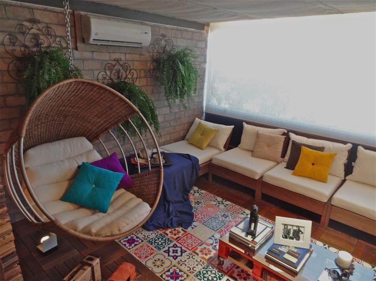Cantinho de estar para a varanda gourmet  com ladrilhos hidr ulicos. 25 best Varandas gourmet images on Pinterest