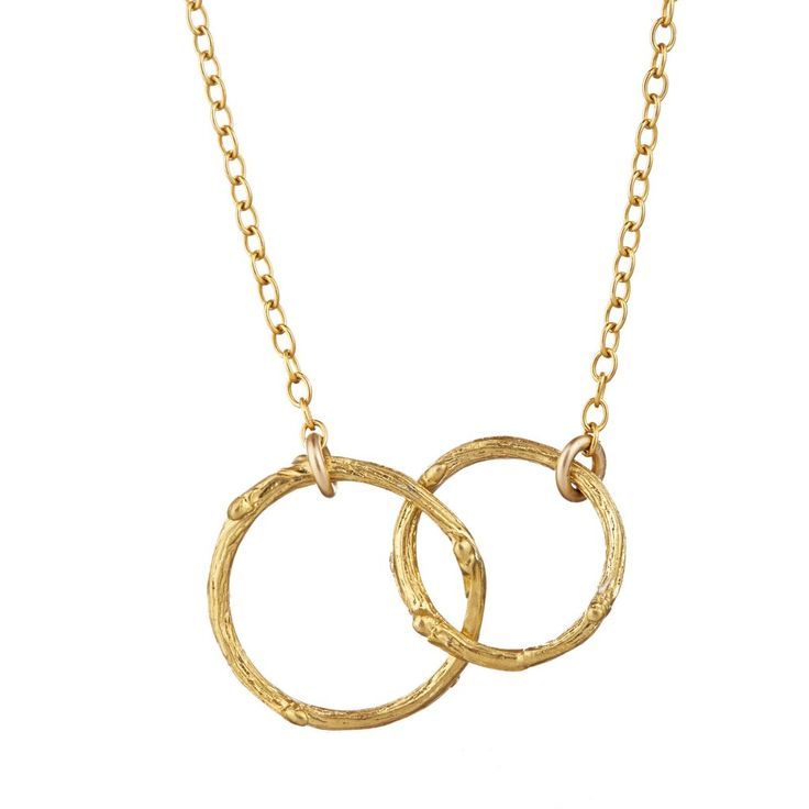 image-Chupi Just The Two Of Us Hawthorn Twig Circle Necklace in Gold