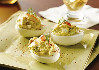 Lobster-Stuffed Deviled Eggs I'm pinning for a chance to win the prize in the Jumpstart Your Morning Contest