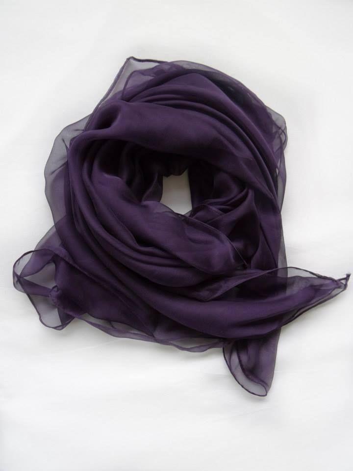 Purple Haze in Silk Scarf by Stylesetterz Handmade Scarves @ www.facebook.com/stylesetterzhandmadescarves