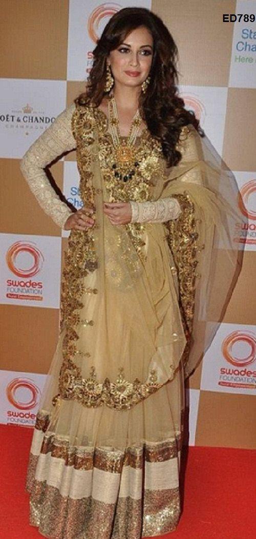 Delicate Designer Anarkali Salwar Suit Latest Fashion Designer Kameez Pakistani ED789
