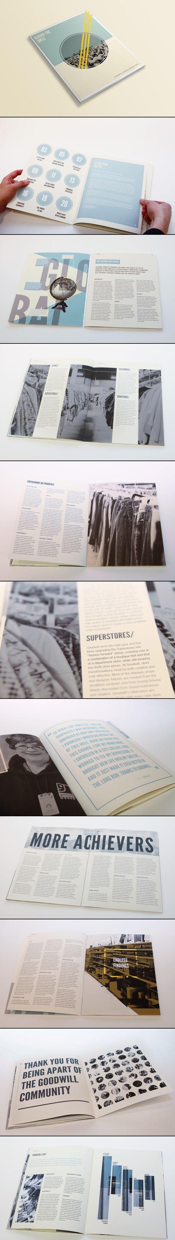 Goodwill Annual Report   by Lauren Coleman (via Behance)
