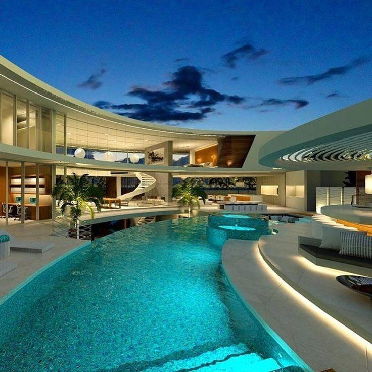 M s de 25 ideas incre bles sobre mansiones lujosas en for Mansiones con piscina