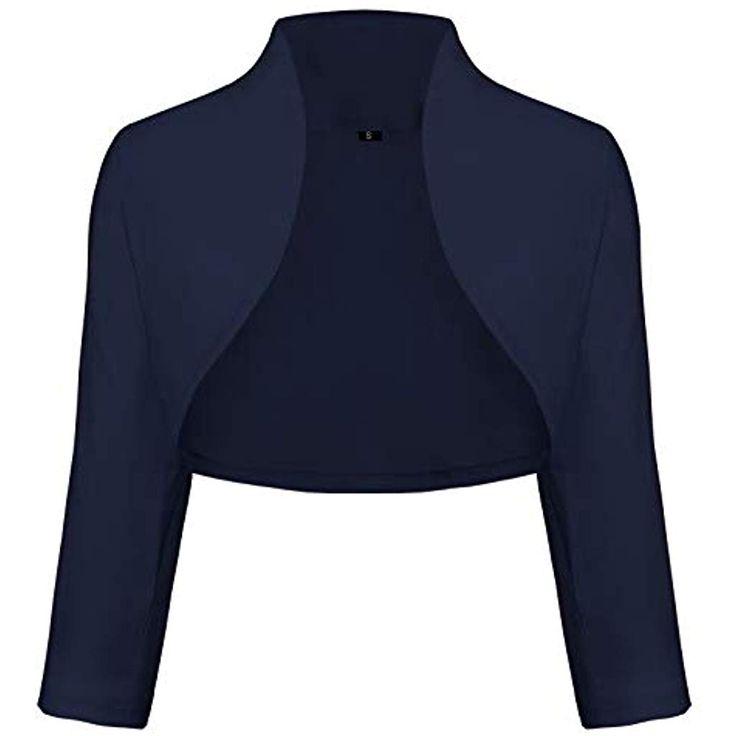 TrendiMax Women 's Elegant Bolero Jacke Schulter Jacke Kurze Jacke 3/4 Ärmel …   – Damen