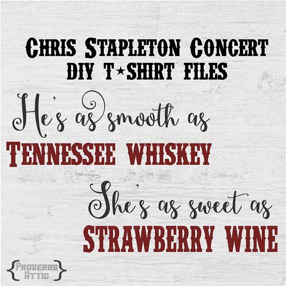 CHRIS STAPLETON DIY concert t-shirt file for Vinyl screenprint