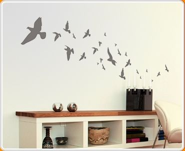 Flying Birds Wall Sticker   These Vinyl Wall Art Stickers Are An  Alternative To Wallpaper, Easy To Apply And Remove. Sticker Size X A  Swirling Set Of Flying ... Part 83