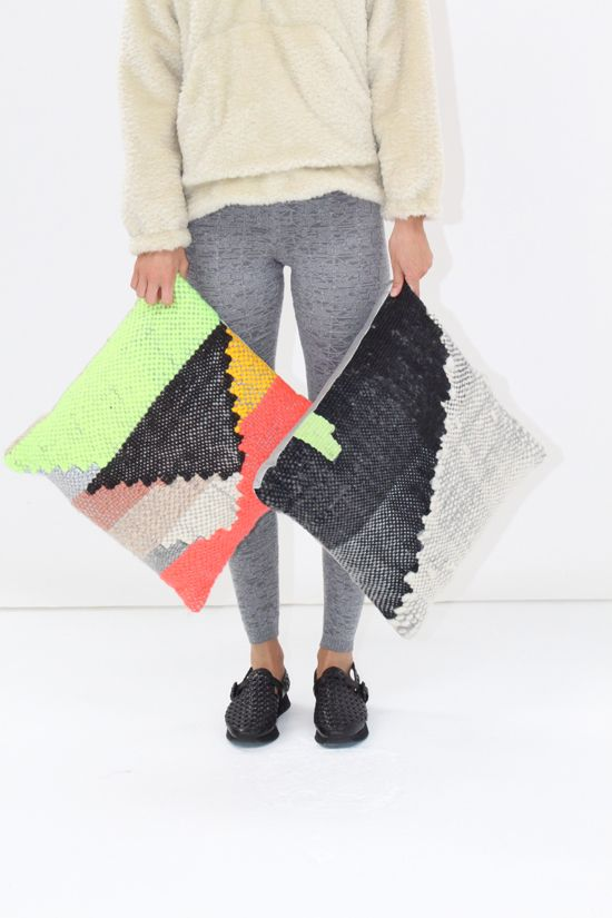 New Friends Woven Pillows Large | Beklina | Thoughtfully curated fashion and accessories for women and home objects.