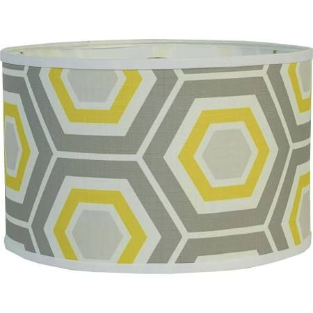 Retro Honeycomb Drum Shade   Grey U0026 Yellow A Honeycomb Design On Linen In  Todayu0027s Fashion Colors Will Jazz Up Your Space Instantly!