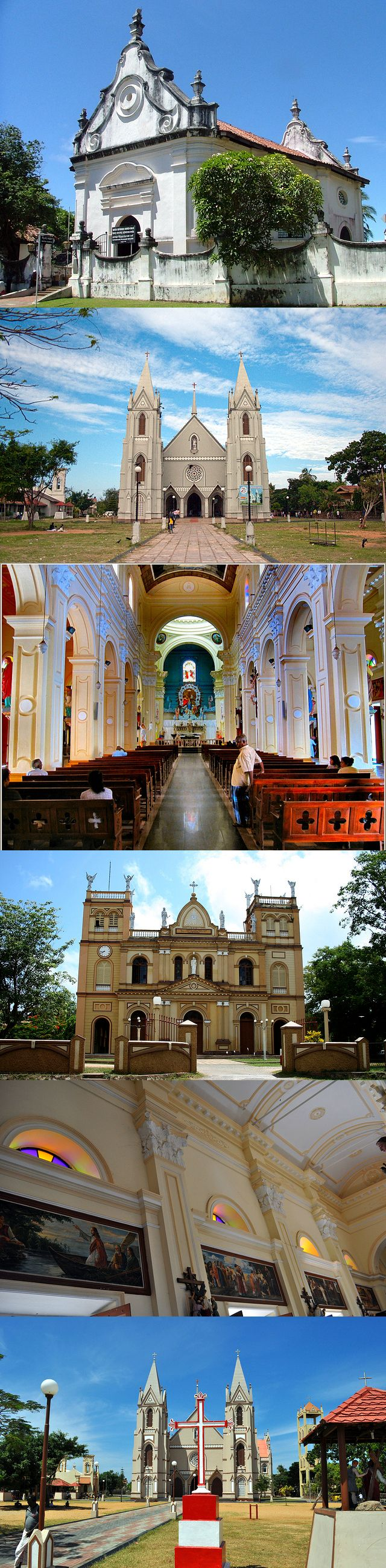 Churches in Negombo, Sri Lanka #SriLanka #Negombo #Churches