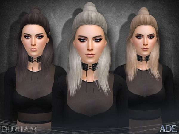 Durham hair by Ade_Darma at TSR • Sims 4 Updates