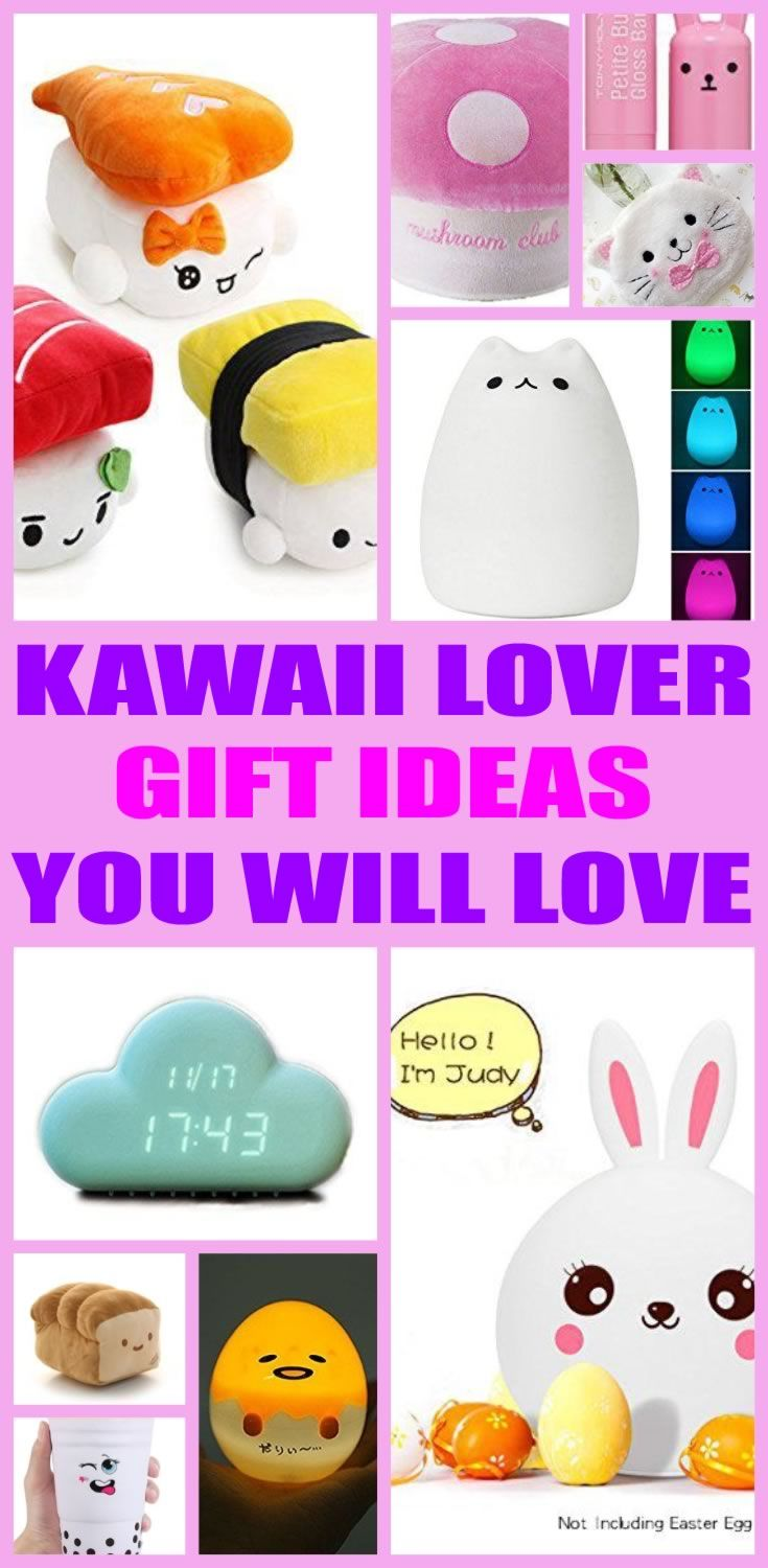 Top Kawaii Gifts! Insanely Cute Kawaii Gift ideas for friends, kids, adults, girls and boys. Cute and awesome products for those that love Kawaii things. From squishy toys to room decor and more this Kawaii gift guide has unique and fun gift ideas!