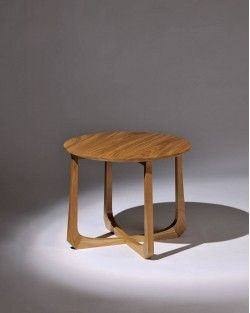 La Corona round table solid timber in Blackwood by Tide