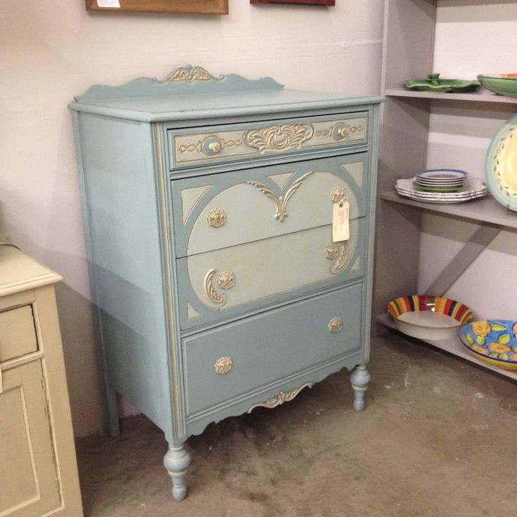 1940s Art Deco dresser painted with Annie